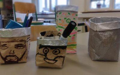 So geht Upcycling in der Deutschklasse der Kiderlinschule